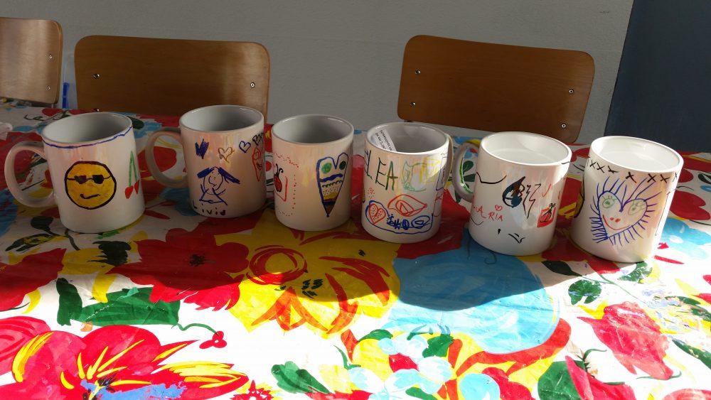 Kindergeburtstag Tassen Bemalen